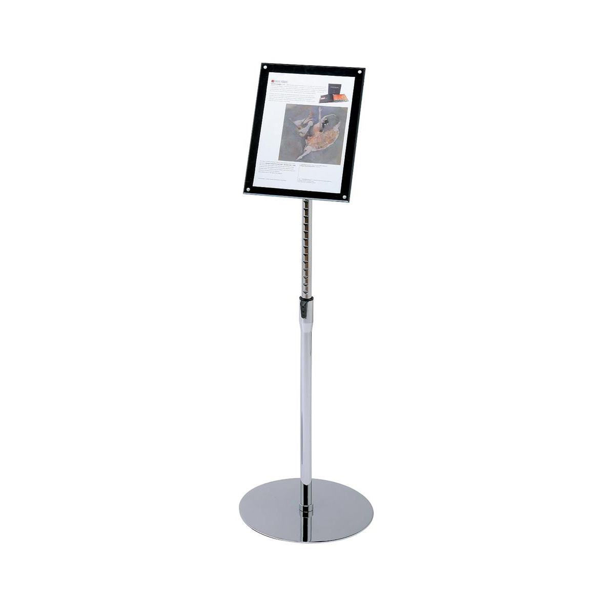 Sign Holder with Bevel Magnetic Cover Floor Standing Heavyweight A4