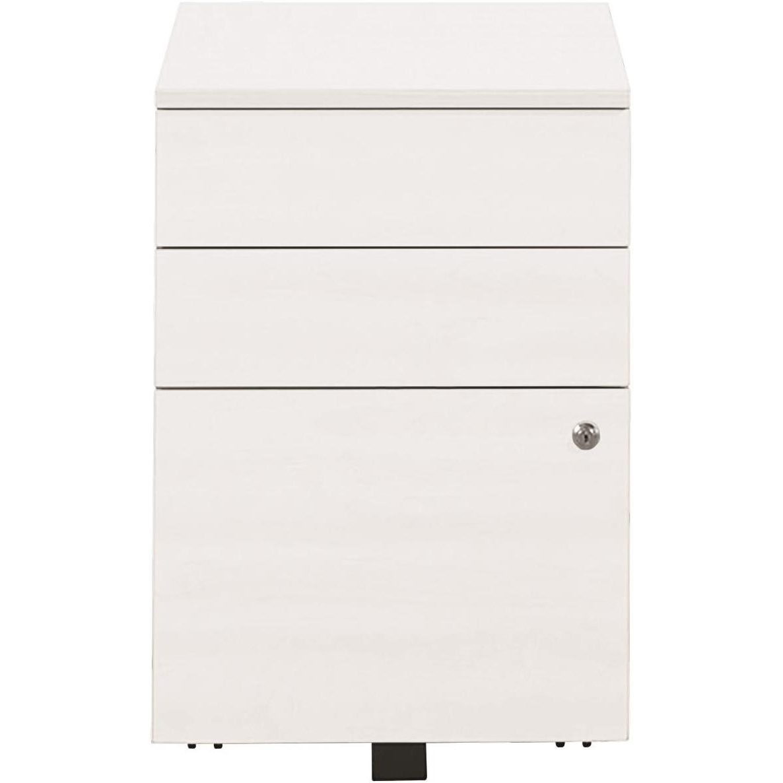 Sonix Tall UnderDesk Mobile Pedestal 430x575x631mm Polar White Ref w9961wh