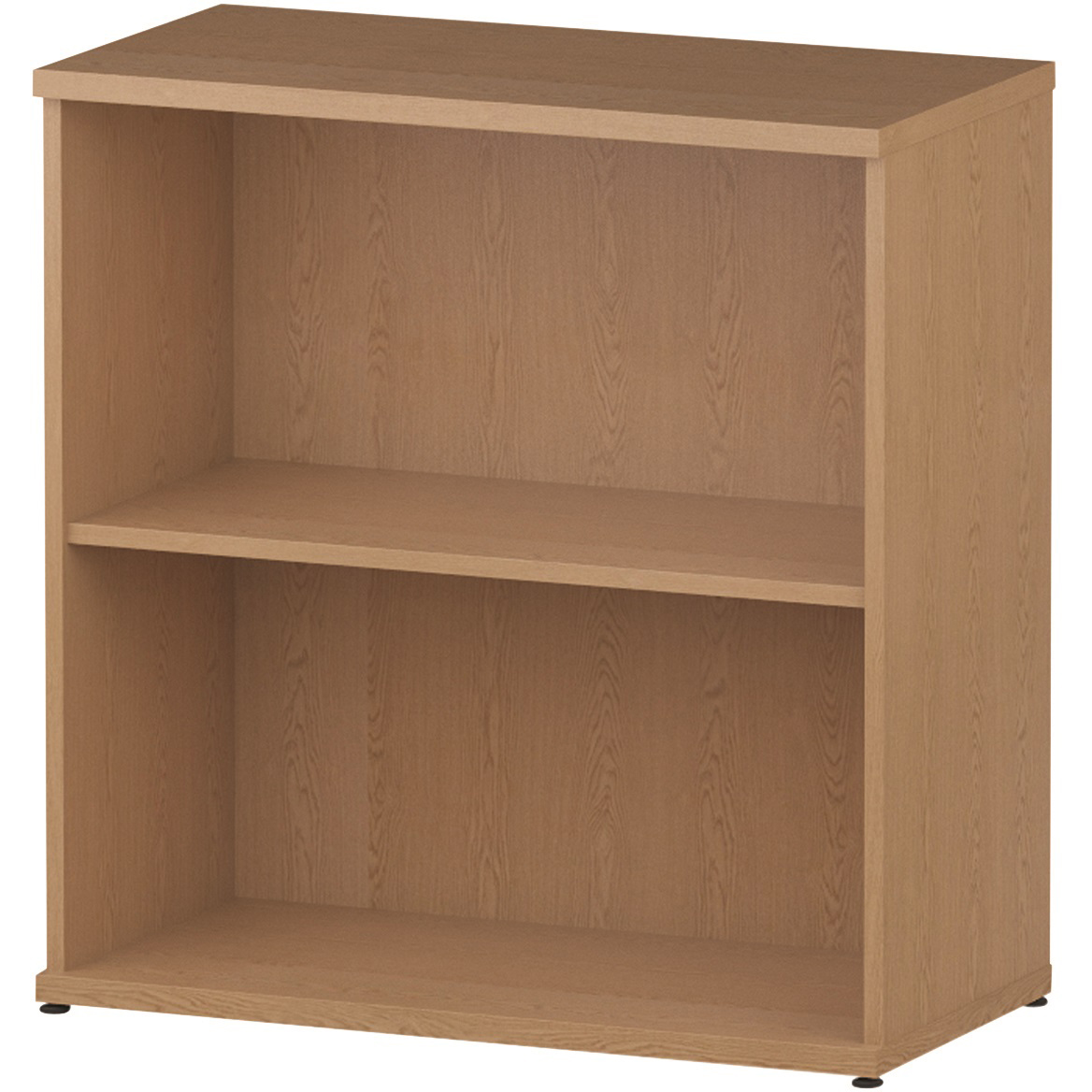 Trexus Office Low Bookcase 800x400x800mm 1 Shelf Oak Ref I000757