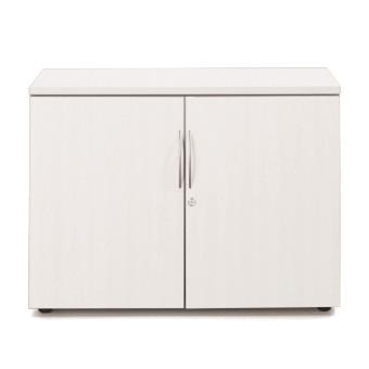 Sonix Low Two Door 1000x525x730mm Cupboard Polar White Ref w9864wh