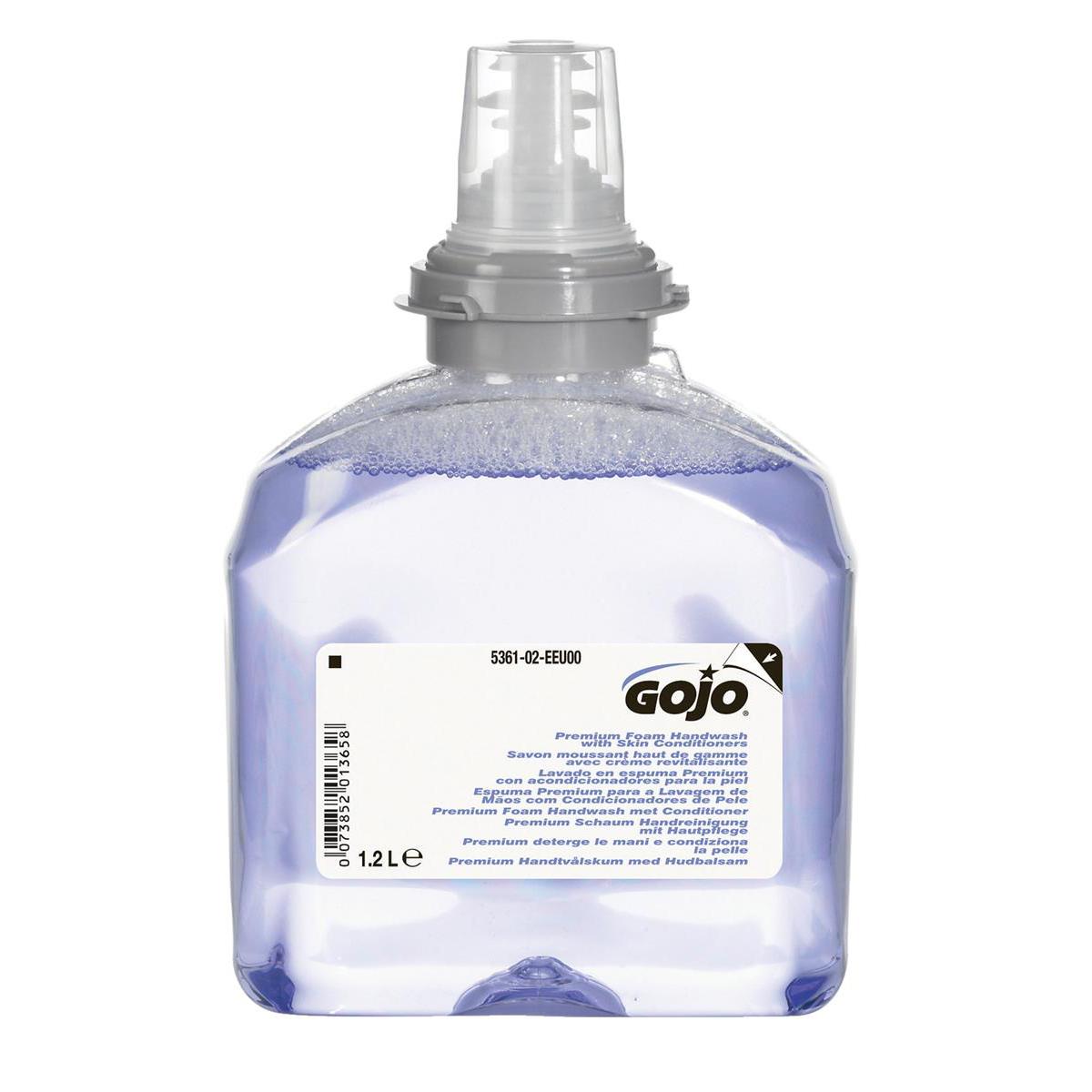 Gojo Foam Soap Hand Wash Refill with Conditioner for TFX Dispenser 1200ml Ref N06250 Pack 2