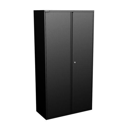 Image for Bisley Two Door Steel Storage Cupboard 914x470x1970-1985mm with shelves Black Ref YECB0919/4S-av1