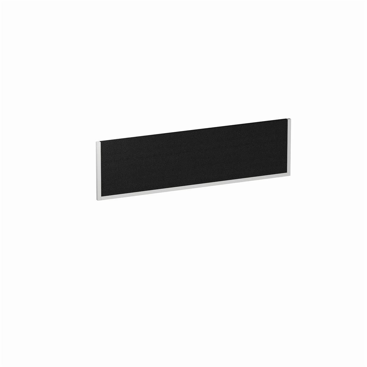 Trexus Desk Screen 1400mm Black with White Frame