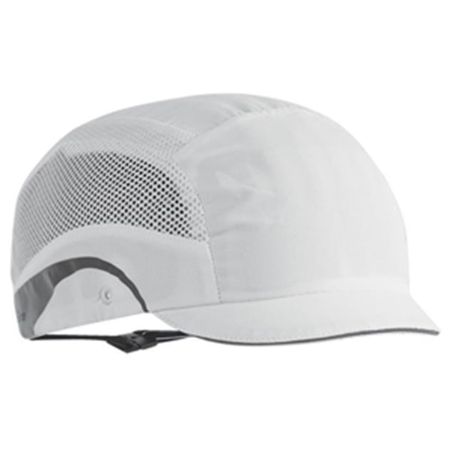 JSP HardCap AeroLite Bump Cap HDPE Shell Water Repellent Short Peak White Ref AAG000-000-1G1