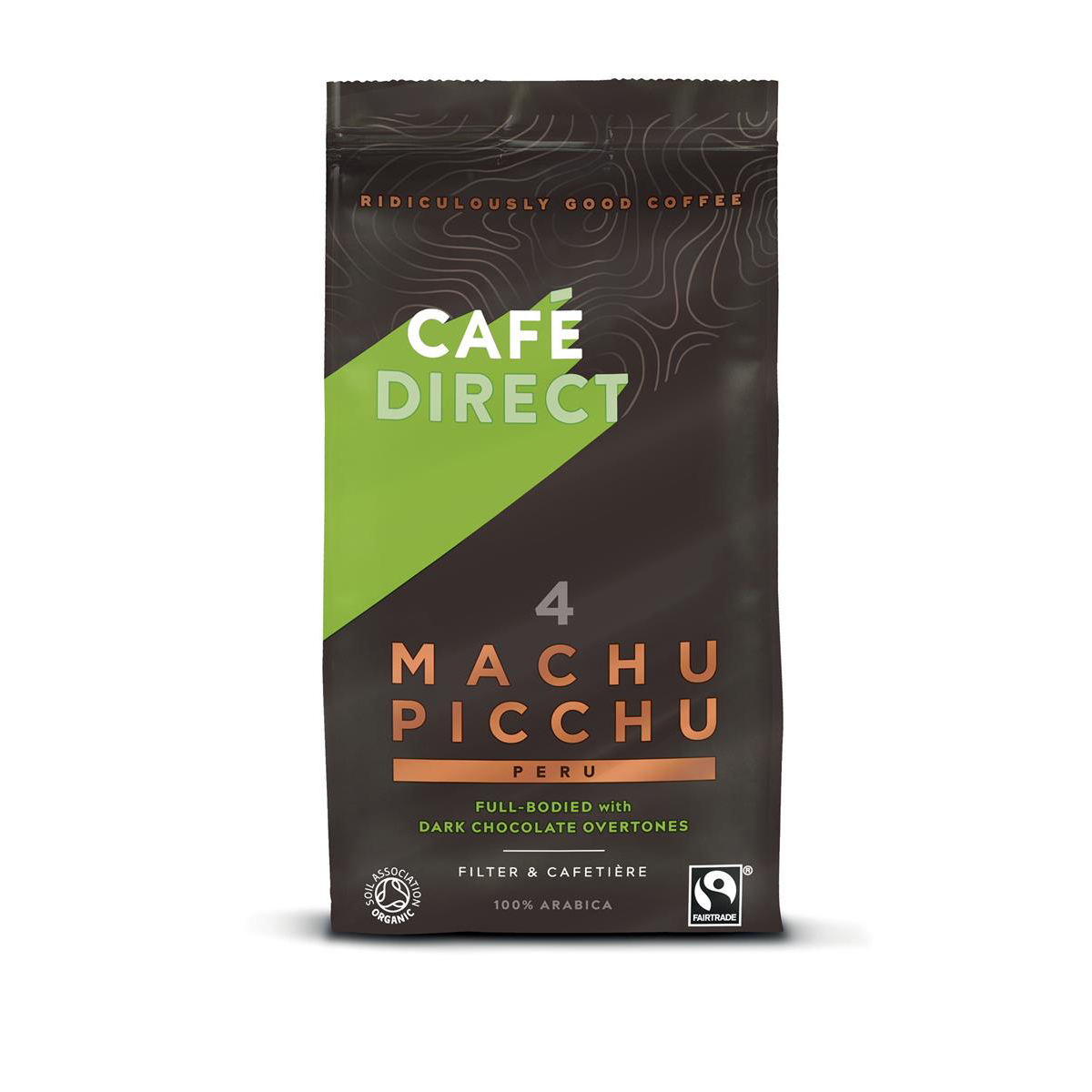 Coffee Cafe Direct Machu Picchu Peru Fairtrade Roast and Ground Coffee 227g Ref FCR1001