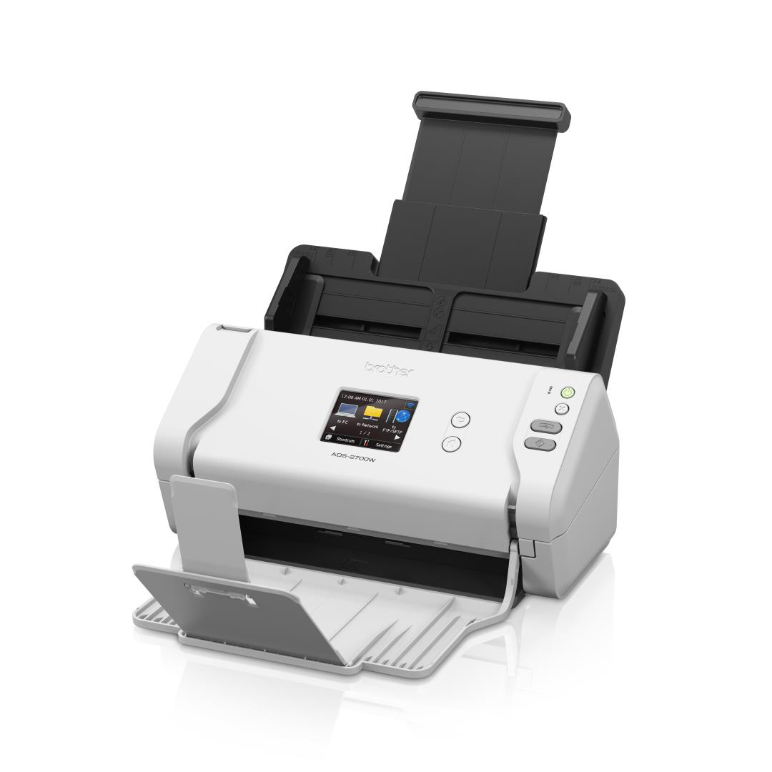 Image for Brother ADS-2700W Desktop Document Scanner 35ppm/70ipm Wireless and USB White/Black Ref ADS2700WZU1