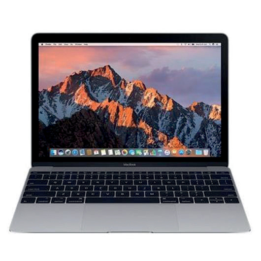 Apple MacBook Mac OS Wi-Fi 8GB RAM 256GB SDD 12-hour Battery 12in Space Grey Ref MNYF2B/A