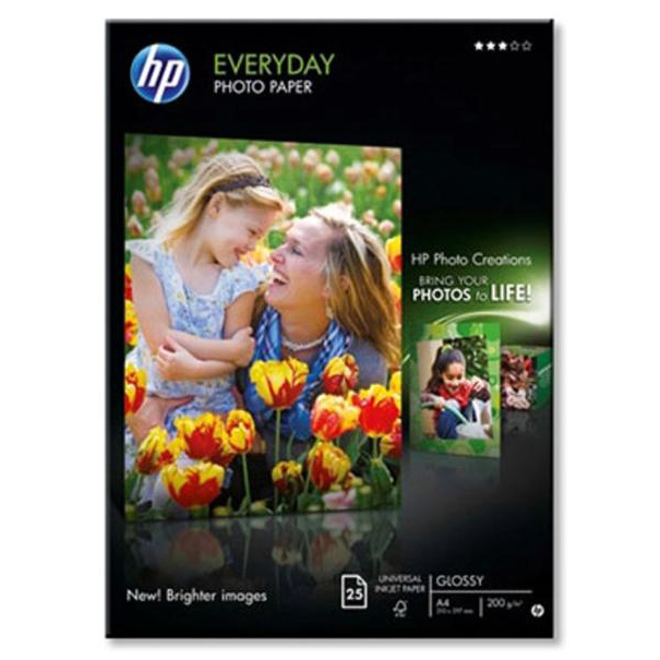 HP E/D Gloss Photo PaperA4 PK25 Q5451A