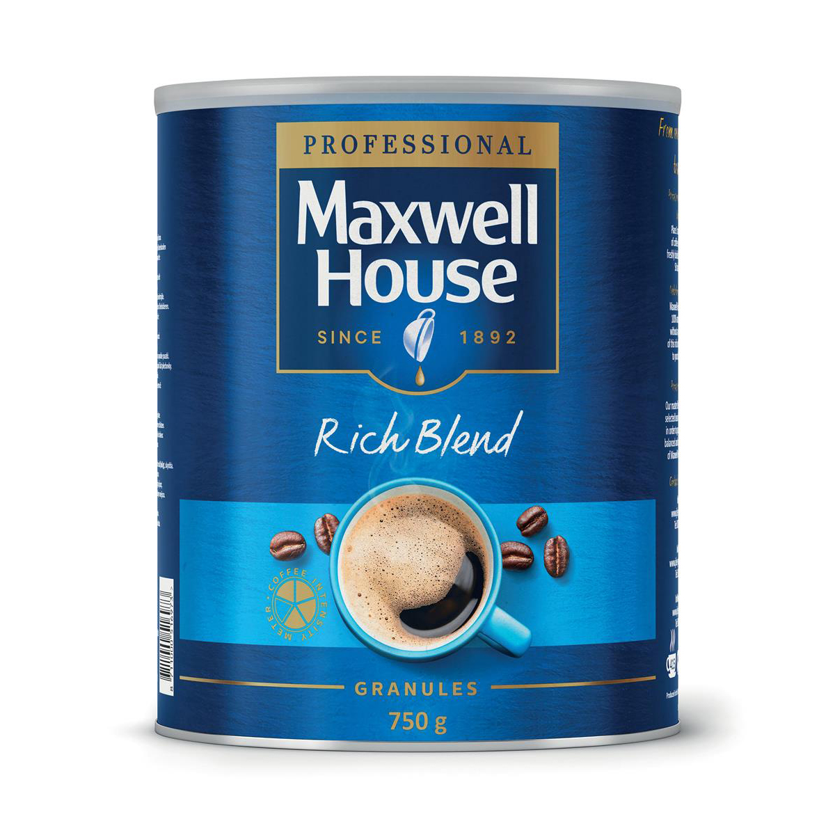 Coffee Maxwell House Instant Coffee Granules Rich Blend Tin 750g Ref 4032034