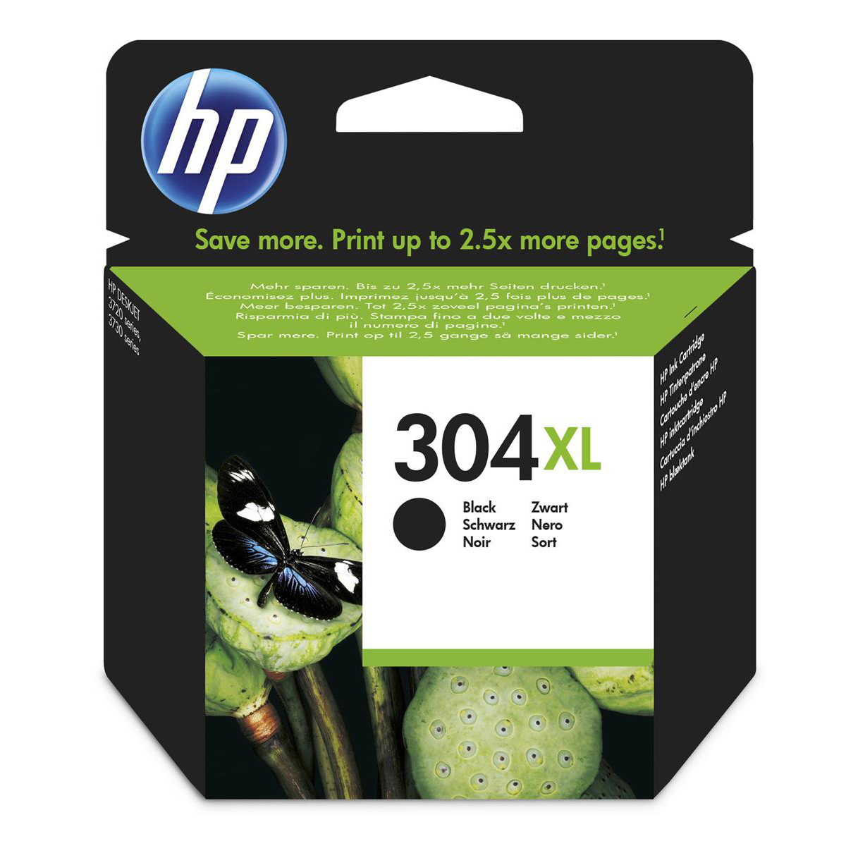 Hewlett Packard [HP] No.304XL Inkjet Cartridge High Yield Page Life 300pp 5.5ml Black Ref N9K08AE