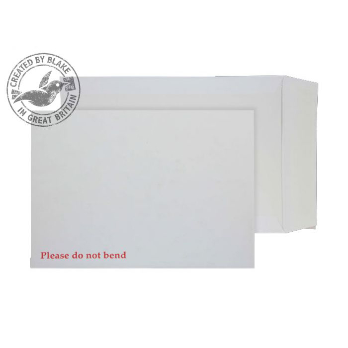 Purely Packaging Envelope Board Backed P&S 241x178mm White Ref 6112 Pack 125 *10 Day Leadtime*