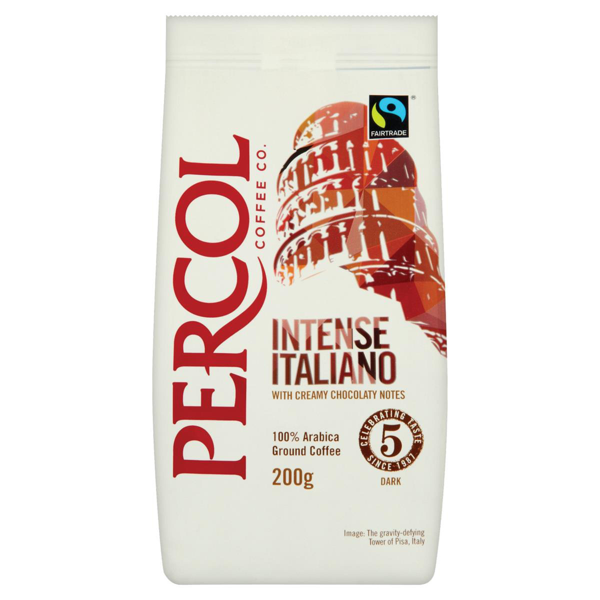 Coffee Percol Intense black and beyond Italiano Dark Ground Coffee 200g Ref 0403244