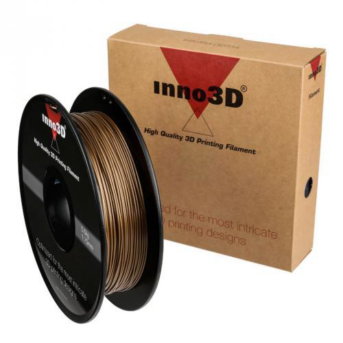 Inno3D PLA Filament for 3D Printer 1.75x200mm 0.5kg Gold Ref 3DPFP175GD05