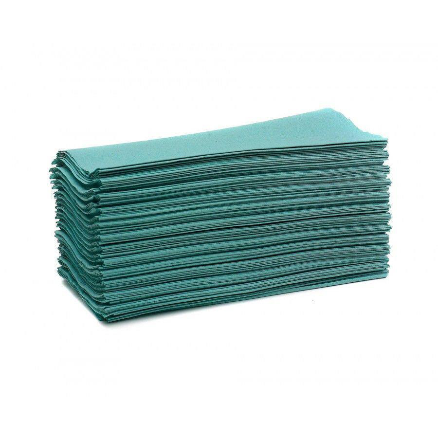 Maxima Hand Towels C-Fold 1-Ply Green FSC Recycled 144 Sheets Per Sleeve Ref 1104062 [20 Sleeves]