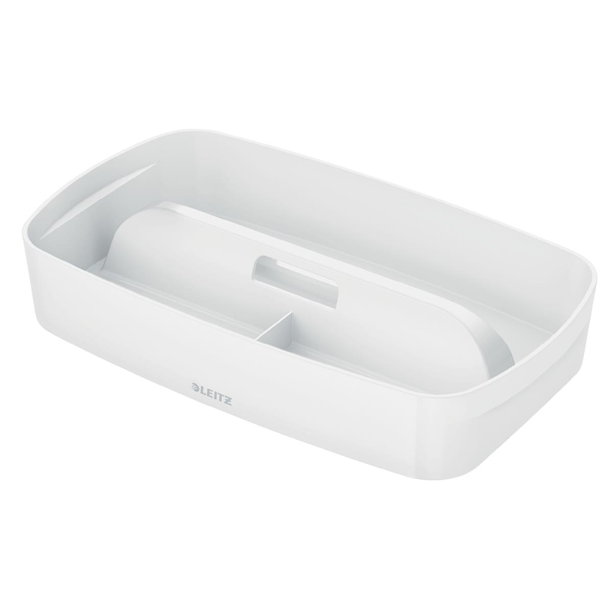 Image for Leitz MyBox Organiser Tray with Handle Plastic(ABS) W307xD181xH56mm White Ref 53230001