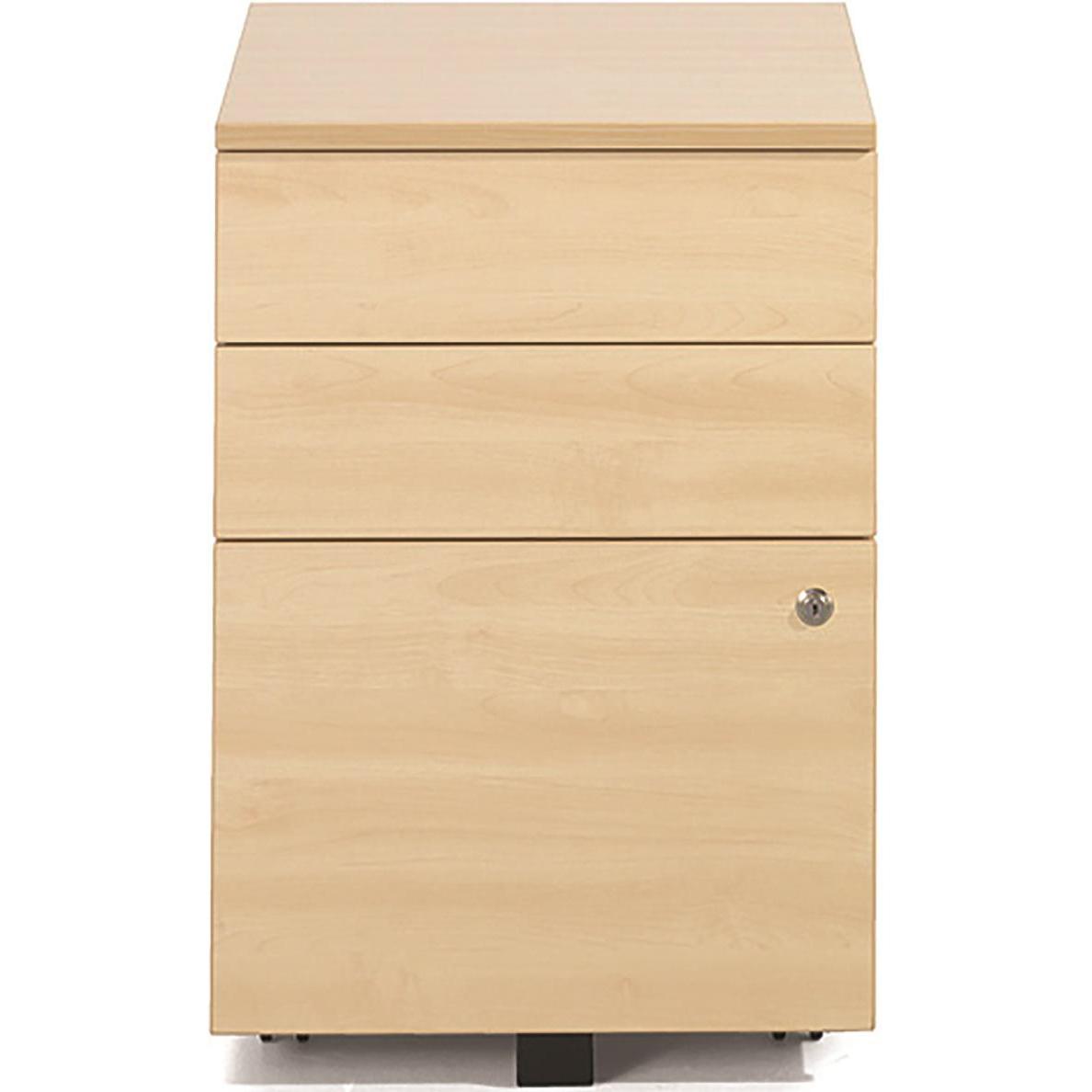 Sonix Tall UnderDesk Mobile Pedestal 430x575x631mm Acer Maple Ref w9961m