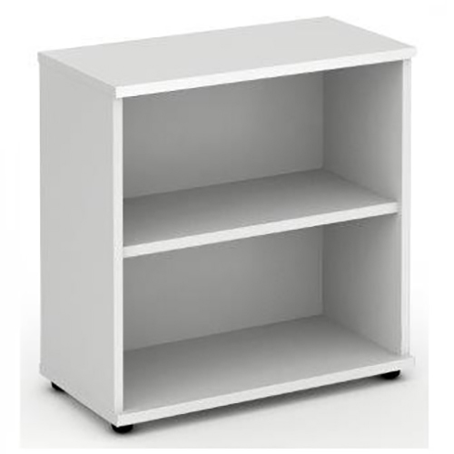 Trexus Office Low Bookcase 800x400x800mm 1 Shelf White Ref I000169