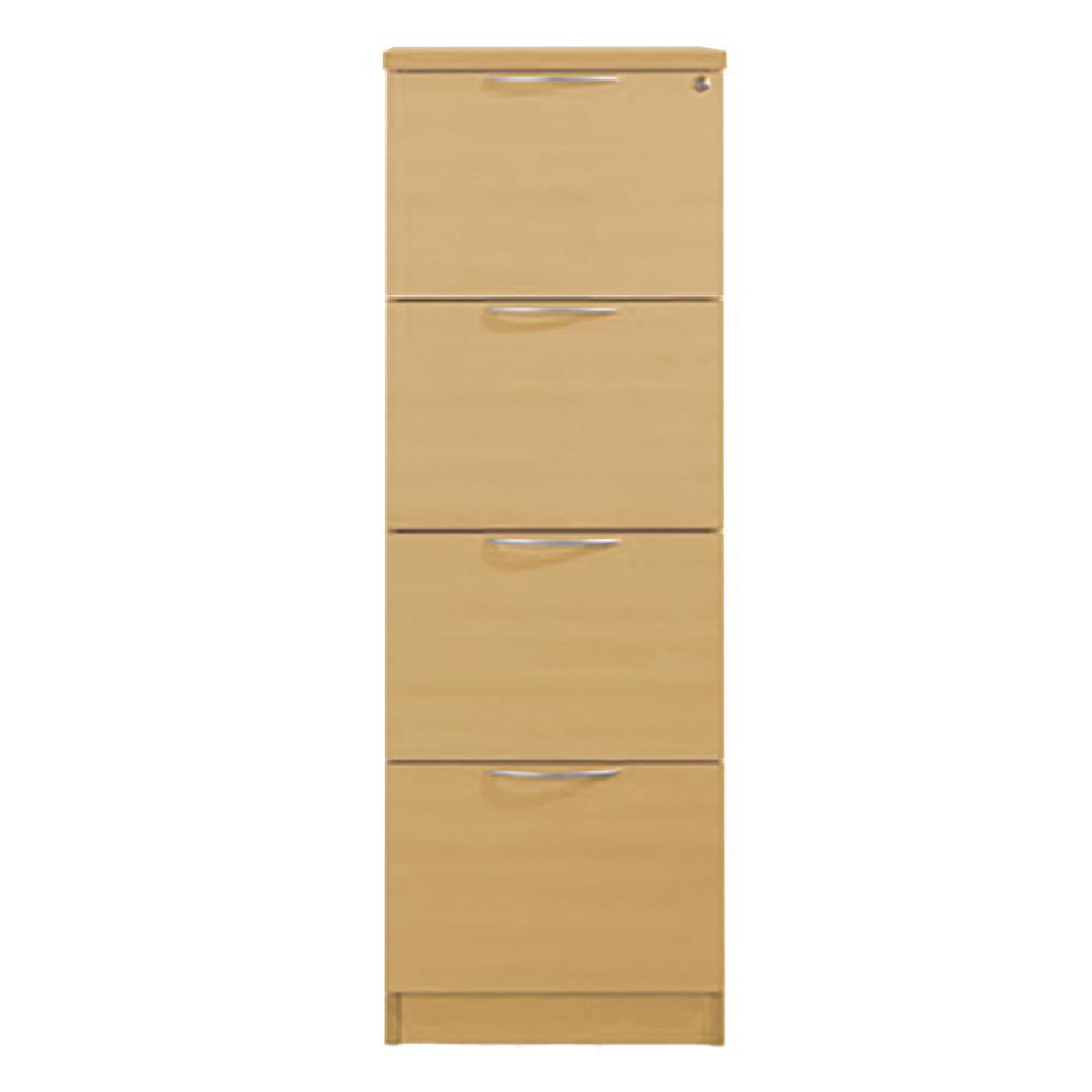 Sonix 4 Drawer Filing Cabinet 474x600x1350mm Natural Oak Ref w9101o