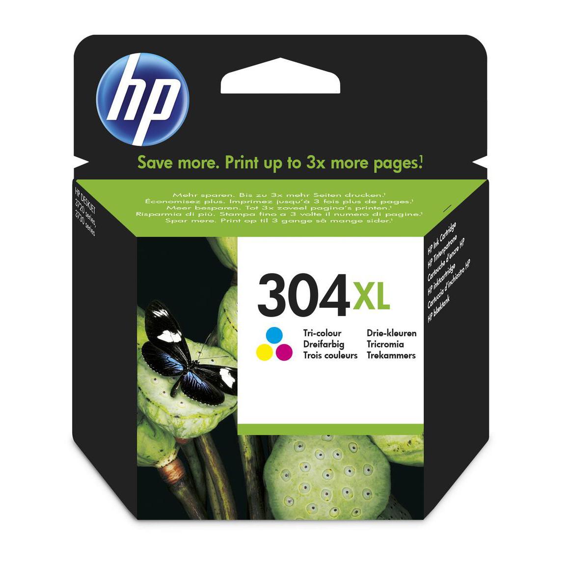 Hewlett Packard [HP] No.304XL Original Ink Cartridge High Yield 300pages Tri-Colour Ref N9K07AE