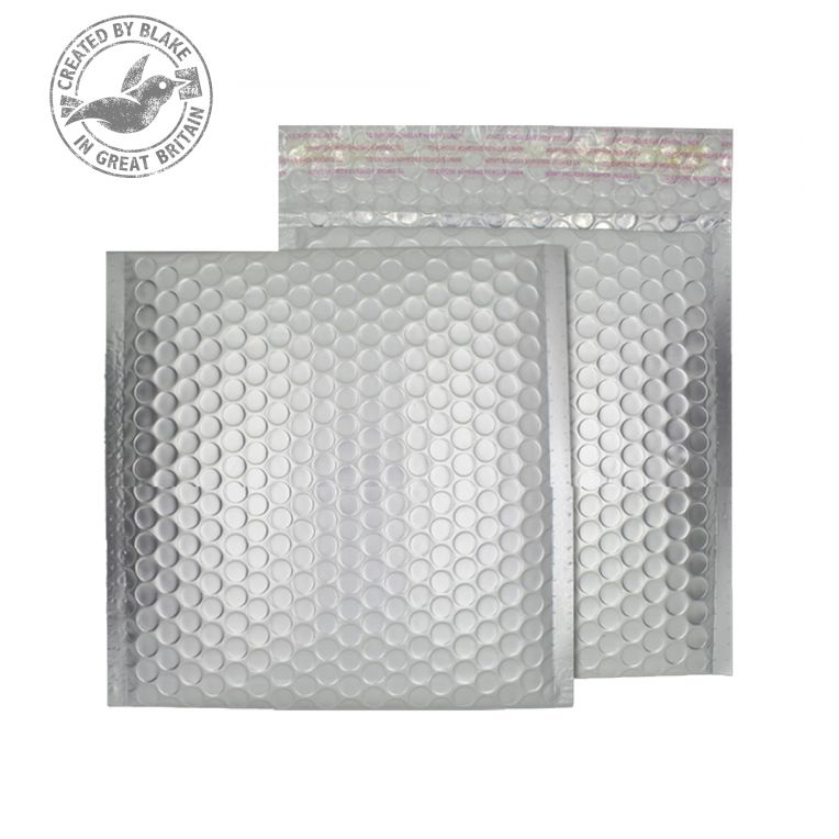 Shades of Grey Purely Packaging Bubble Envelope P&S CD Matt Metallic Chrome Ref MTA165 Pk 100 *10 Day Leadtime*