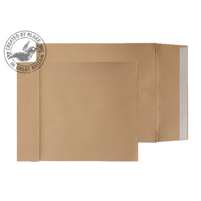Padded Bags & Envelopes Purely Packaging Envelope Gusset P&S 140gsm C3 Manilla Ref G55501 Pack 125 *10 Day Leadtime*