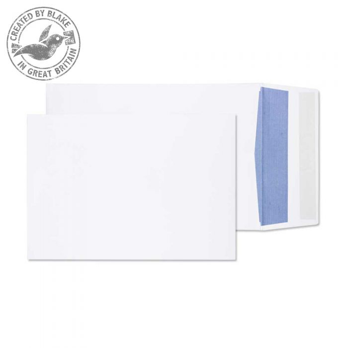 Purely Packaging Envelope Gusset P&S 120gsm 254x178x25mm White Ref 7000 Pk 125 *10 Day Leadtime*