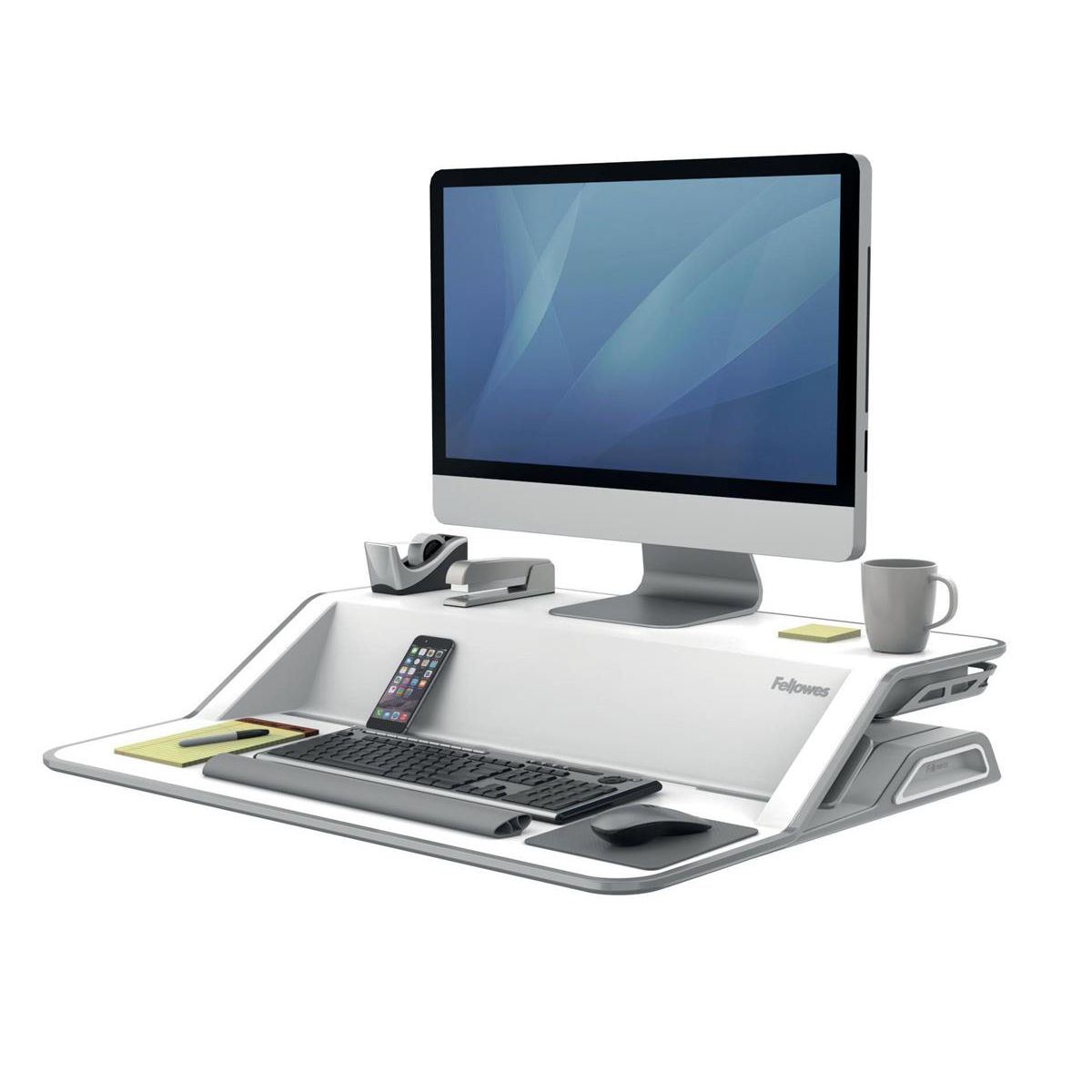Fellowes Lotus Sit-Stand Workstation Lift Technology White Ref 9901  [REDEMPTION] Jan-Mar20