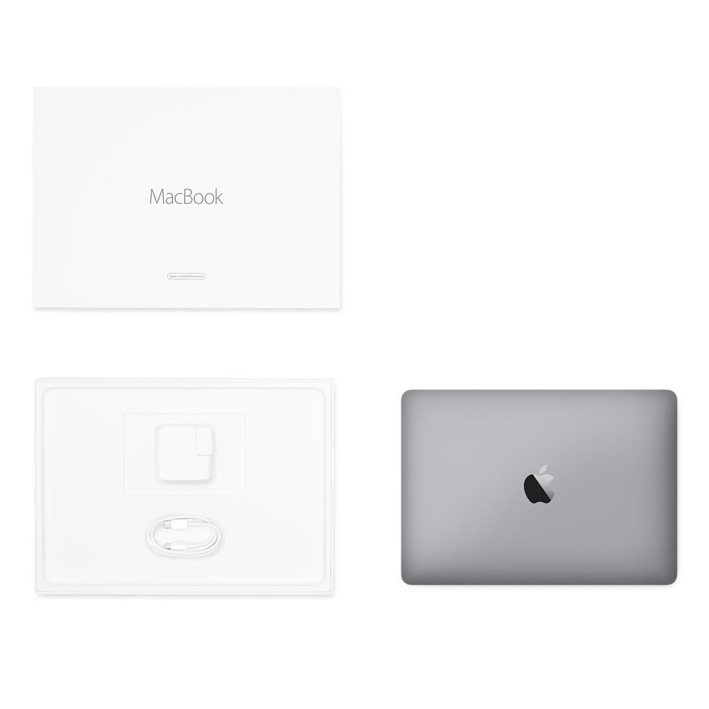 Apple MacBook Mac OS Wi-Fi 8GB RAM 512GB SDD 12-hour Battery 12in Space Grey Ref MNYG2B/A