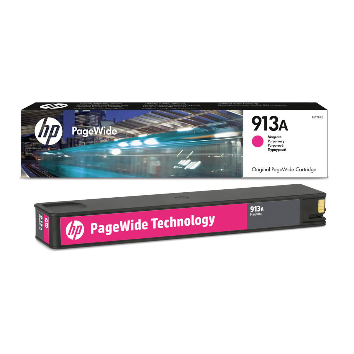 Hewlett Packard [HP] No.913A Inkjet PageWide Cartridge Page Life 3000pp 37ml Magenta Ref F6T78AE