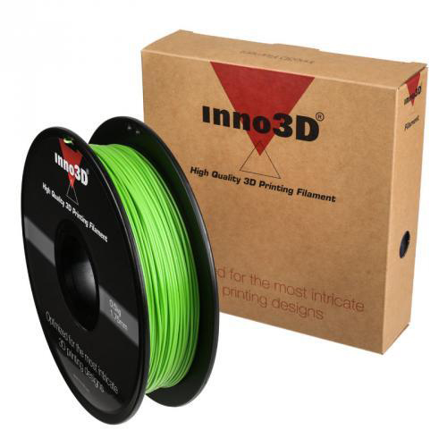 Inno3D PLA Filament for 3D Printer 1.75x200mm 0.5kg Green Ref 3DPFP175GN05