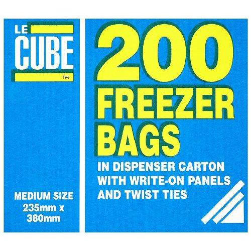 Plastic bags LeCube Food/Freezer Bags Medium Ref 391 [Pack 200]