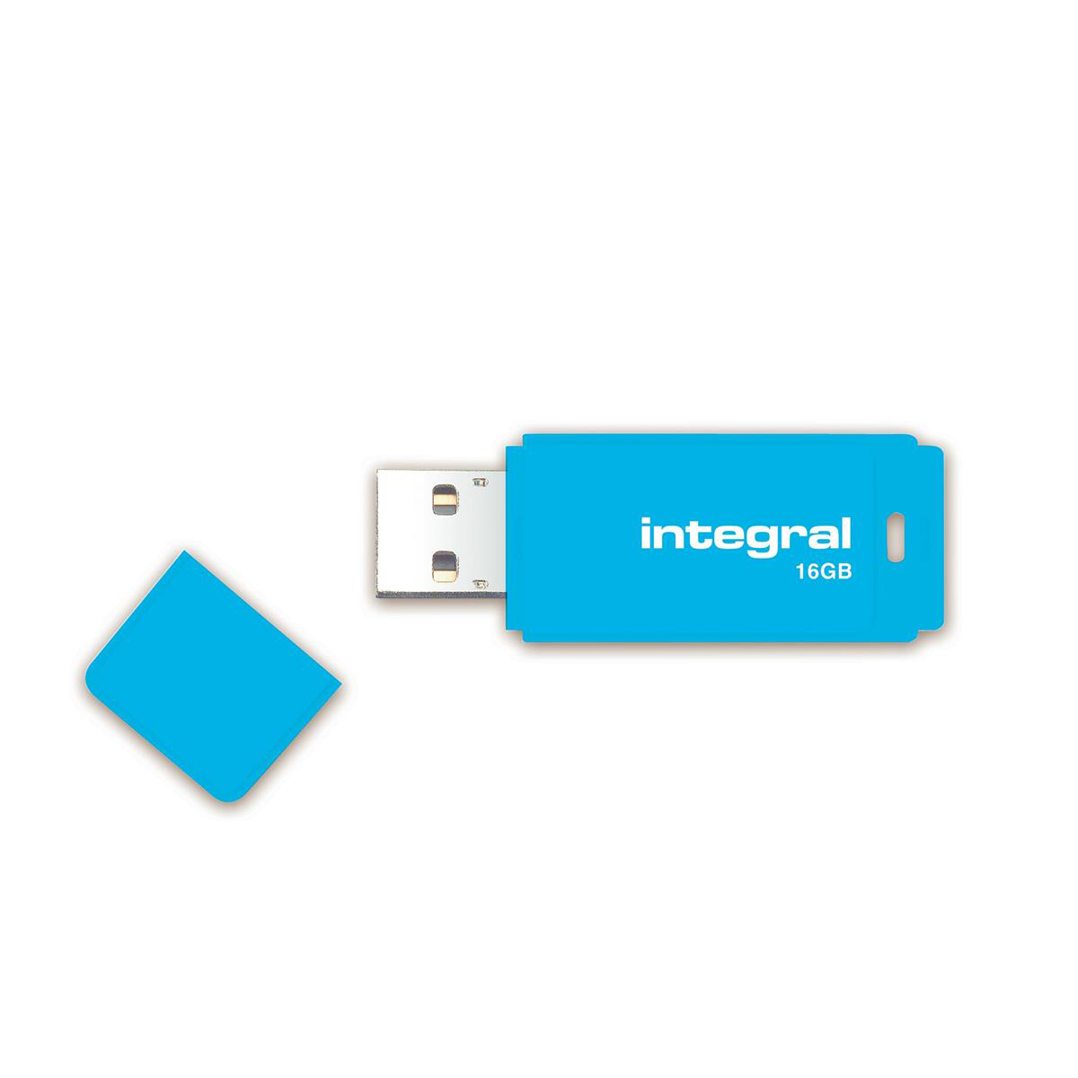 Integral Neon USB Drive 2.0 Capacity 16GB Blue Ref INFD16GBNEONB