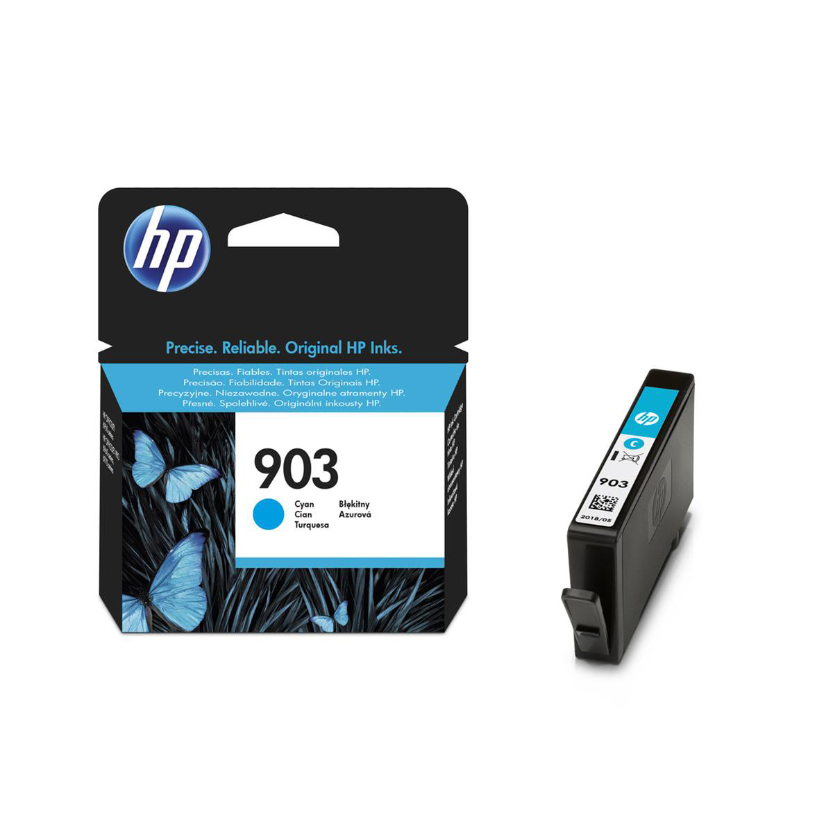 Hewlett Packard [HP] No.903 Original Ink Cartridge 315pages Cyan Ref T6L87AE
