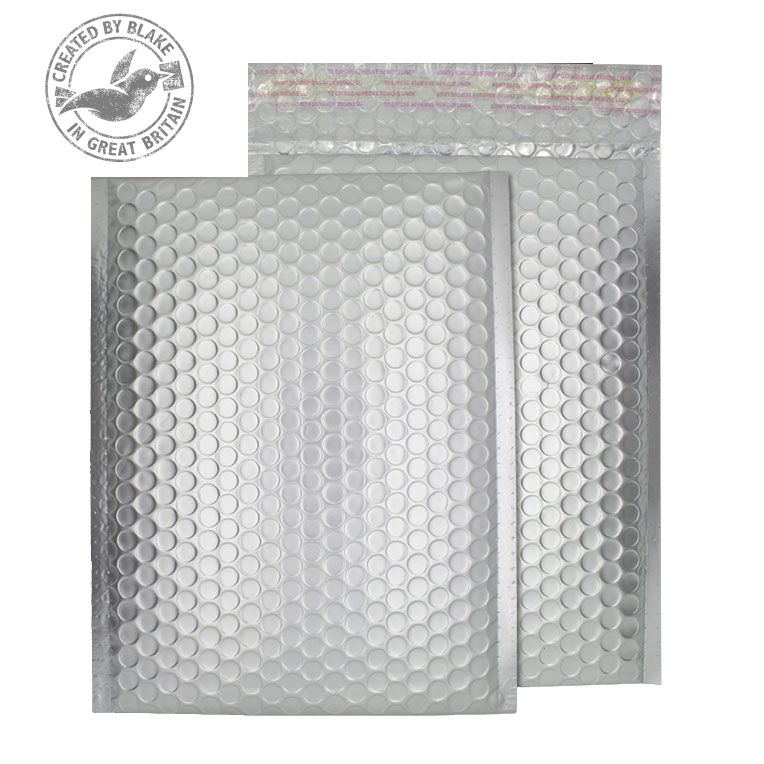 Purely Packaging Bubble Envelope P&S C5+ Matt Metallic Chrome Ref MTA250 Pk 100 *10 Day Leadtime*