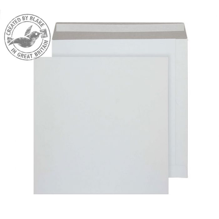 Board Backed Envelopes Purely Packaging Envelope All Board P&S 350gsm 340x340mm White Ref PPA13 Pk 100 *10 Day Leadtime*