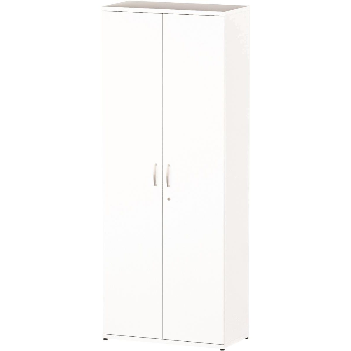 Trexus Office Very High Cupboard 800x400x2000mm 4 Shelves White Ref S00012