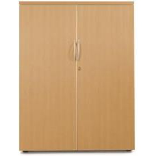 Sonix Medium Two Door 1000x525x1200mm Cupboard Rich Beech Ref w9865b