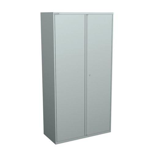 Image for Bisley Two Door Steel Storage Cupboard 914x470x1970-1985mm with shelves  Silver Ref YECB0919/4S-arn