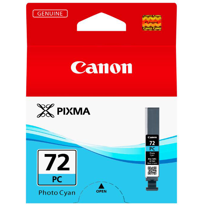 Canon PGI-72 Inkjet Cartridge Page Life 351pp Photo Cyan Ref 6407B001