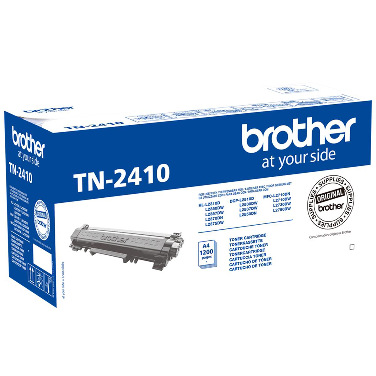 [ EX ] Brother TN-2410 Black Toner Cartridge TN2410 (1200 Pages)