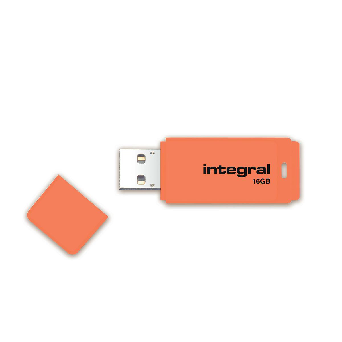 Memory Sticks Integral Neon USB Drive 2.0 Capacity 16GB Orange Ref INFD16GBNEONOR