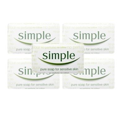Simple Soap Perfume-free for Sensitive Skin Ref 26058 [Pack 6]