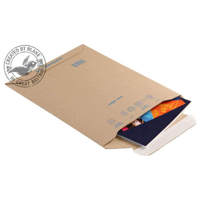 Padded Bags & Envelopes Blake Purely Packaging Corrugated Pocket P&S 280x200mm Kraft Ref PCE19 Pk100 *10 Day Leadtime*