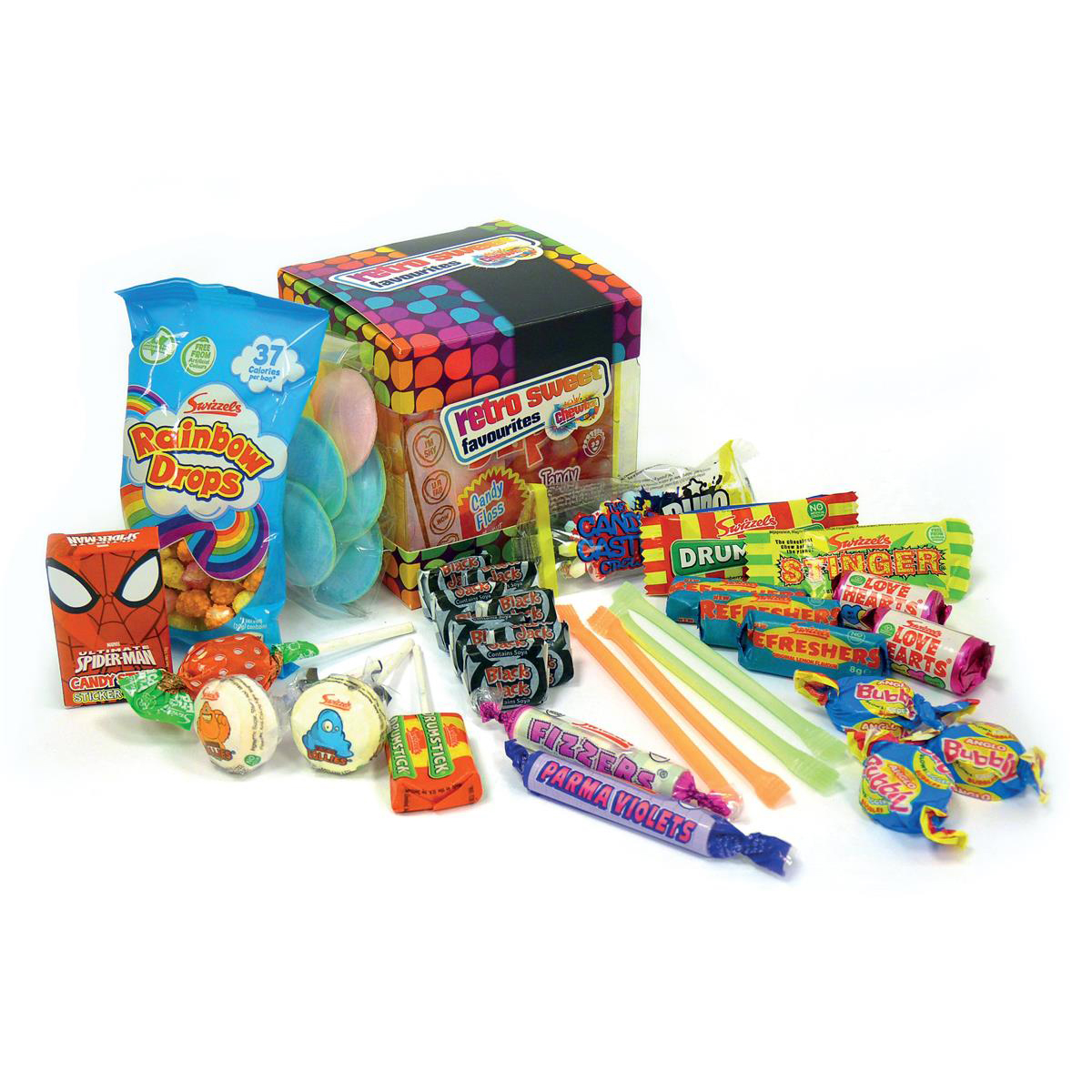 Chewbz Retro Sweets Cube Assorted Flavours Ref 1201052