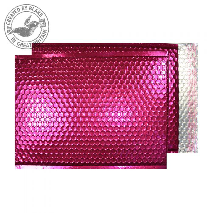Purely Packaging Bubble Envelope P&S C3 Metallic Bright Pink Ref MBP450 [Pack 50] 10 Day Leadtime