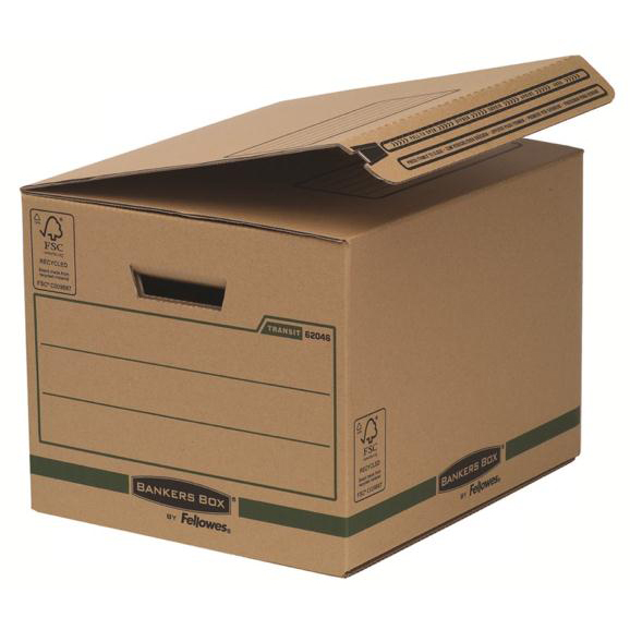 Fellowes Smmoth Move Bankers Box Removal Boxes Small 340x293x396mm Ref 6204601 Pack 10
