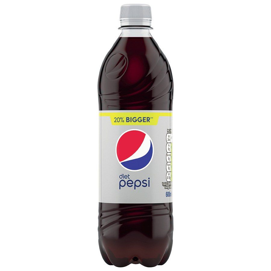 Pepsi Diet Cola Flavour Drink Bottle Plastic 600ml Ref 200420 Pack 24