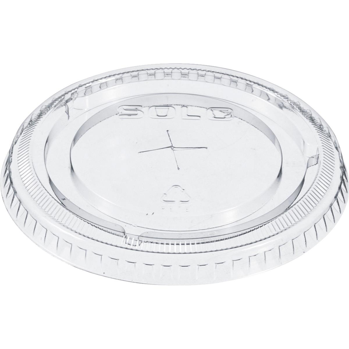 Solo Straw Slot Lid Clear Ref 662TS [Pack 100]