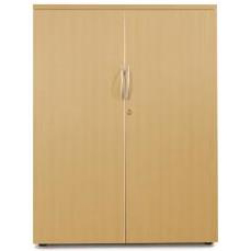 Sonix Medium Two Door 1000x525x1200mm Cupboard Natural Oak Ref w9865o