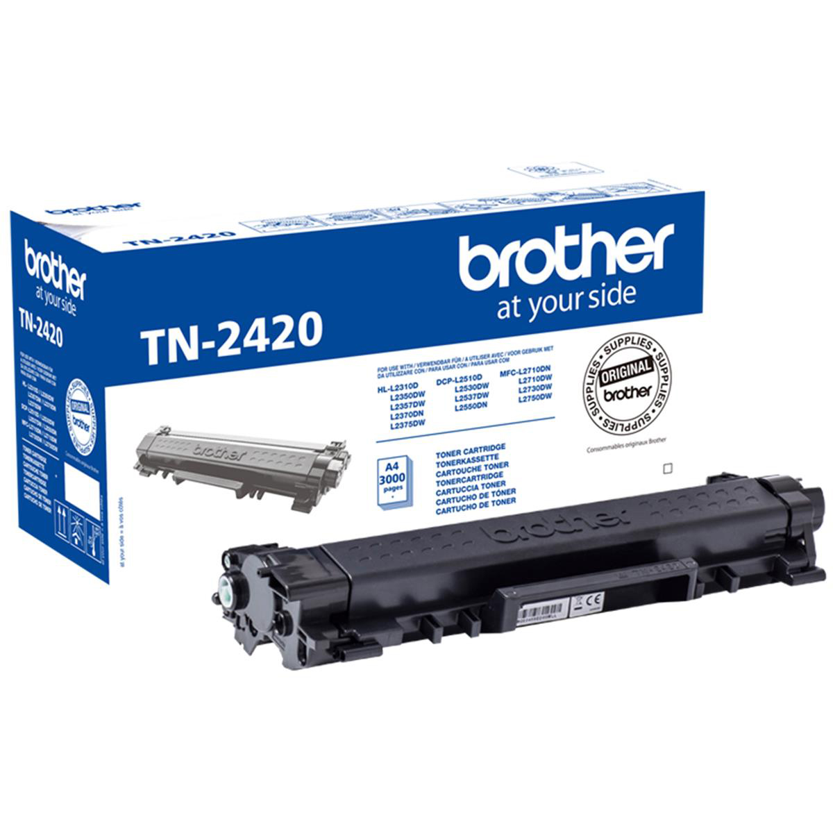 Brother TN2420 Toner Cart HY Black